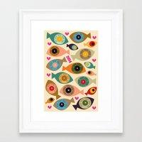 calendar Framed Art Prints featuring Calendar 2014 by beach please