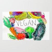 vegan Area & Throw Rugs featuring Vegan  by BriannaCamp