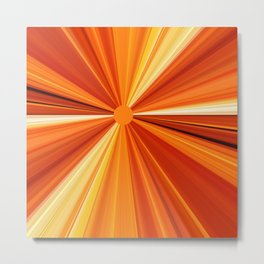 Bright Orange Sun Glare Metal Print