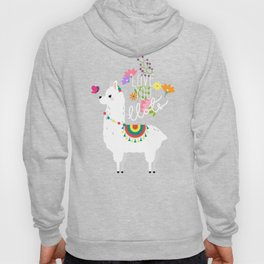 Floral llama with butterfly Hoody