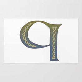 Celtic Knotwork Alphabet - Letter Q Rug