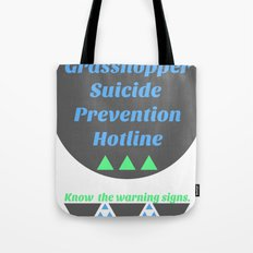 Grasshopper Suicide Prevention  Tote Bag