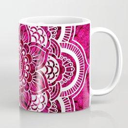 Mandala Hot Pink Colorburst Coffee Mug