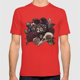Necromancer D20 Tabletop RPG Gaming Dice T-shirt