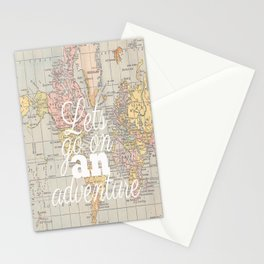 Lets Go On An Adventure  Stationery Cards