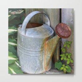 Vintage Watering Can Metal Print