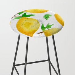 Watercolor Lemons on Farmhouse Bar Stool