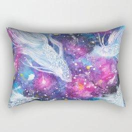 Galaxy Bettas Swimming Through Space Rectangular Pillow