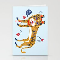 tiger Stationery Cards featuring tiger by echo3005