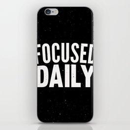 Focused Daily iPhone Skin