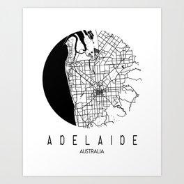 Adelaide Round Art Print