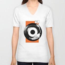 Vinyl Records Unisex V-Neck