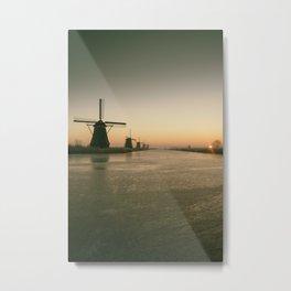 Sunrise at Kinderdijk IV Metal Print