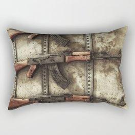 AK-47 Gun Rack Art Rectangular Pillow