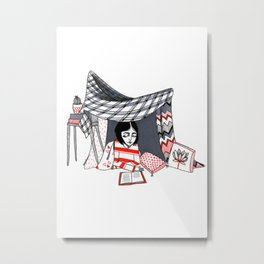 blanket fort Metal Print