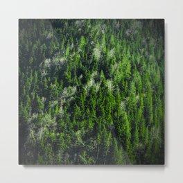 Forest pattern Metal Print