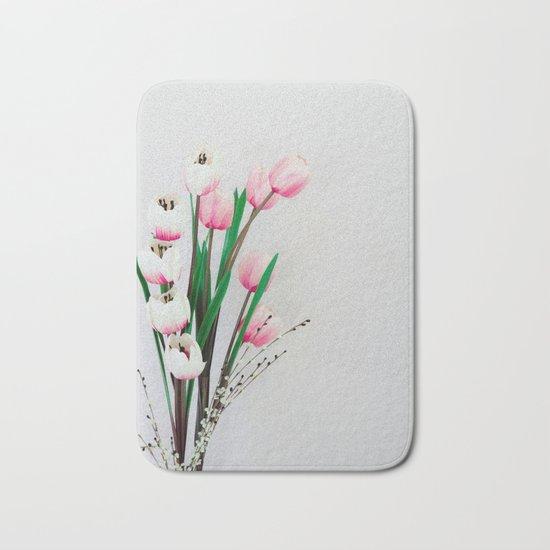 Tulips in spring Bath Mat