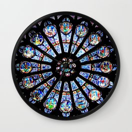 Cathedral Stained Glass Wall Clock
