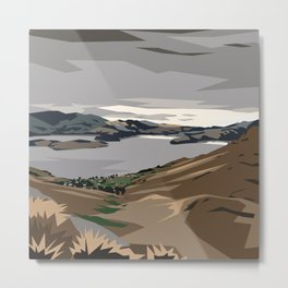 Cass Bay, New Zealand Metal Print