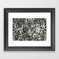 TIGER PAW-TRAIT Framed Art Print
