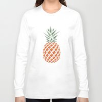 bag Long Sleeve T-shirts featuring Pineapple  by basilique