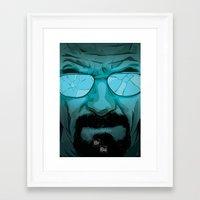 walter white Framed Art Prints featuring Walter White by Guillaume Vasseur