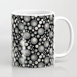GOTH - grey bubbles on black Coffee Mug
