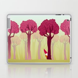 colorful forest with cute dwarf Laptop & iPad Skin