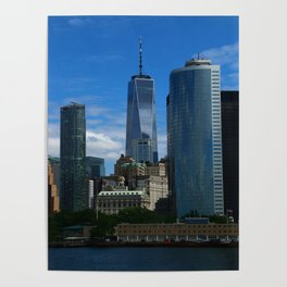 Manhattan View From Hudson River Poster