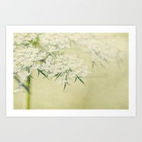 lace Art Prints featuring lace by Bonnie Jakobsen-Martin