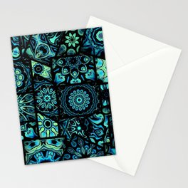 Patchwork in Blues Stationery Cards