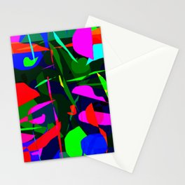 Mod Geo Abstract Digital Design by Katie Pfeiffer Stationery Cards