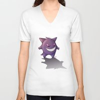 gengar V-neck T-shirts featuring Gengar by MaliceZ