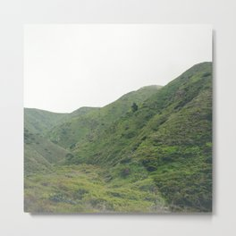 Green Giant   Peaceful Cloudy Nature Landscape Photography of California Hills Metal Print
