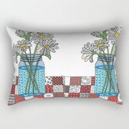 Daisies in a Mason Jar Rectangular Pillow