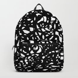 Black and White Abstract Intricate Print Backpack