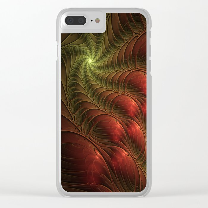 Fantasy Fractal, Coloful And Luminous Clear iPhone Case