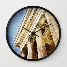 Ancient Roman Temple Wall Clock