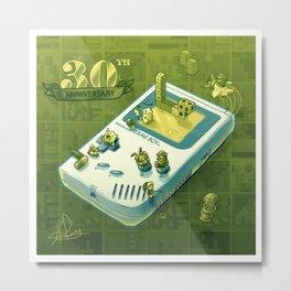 GameBoy 30th - Isometric Nostalgia Metal Print