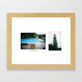 Tree & rainy day Framed Art Print