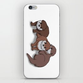 Romp of Baby Otters iPhone Skin