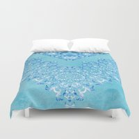 fairy tale Duvet Covers featuring Floral Fairy Tale 2 by Octavia Soldani