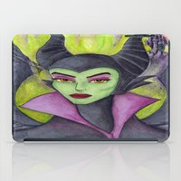 maleficent iPad Cases featuring Maleficent by Tanya Davis Art