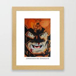 Hulk vs Juggernaut Framed Art Print