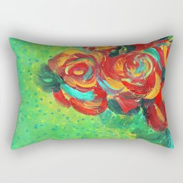Bright colorful bouquet of ro Rectangular Pillow
