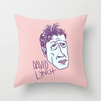 lynch Throw Pillows featuring DAVID LYNCH by Josh LaFayette