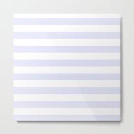 Light Lavender & White Stripe Pattern Metal Print