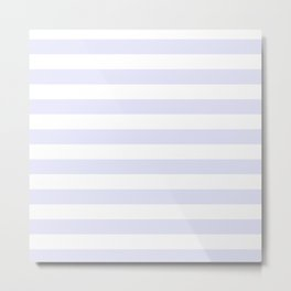 Light Lavender & White Stripe Pattern Metal Print