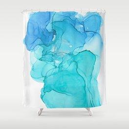 A pool of Mermaid Tears Shower Curtain