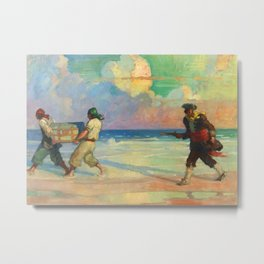 """""""Absconding With The Treasure"""" by NC Wyeth Metal Print"""